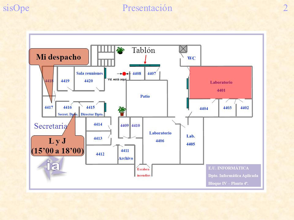 sisOpe Presentación 2 Tablón Mi despacho Secretaria L y J