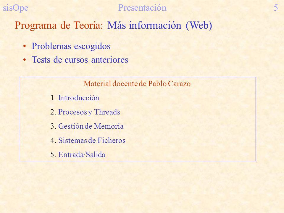 Material docente de Pablo Carazo