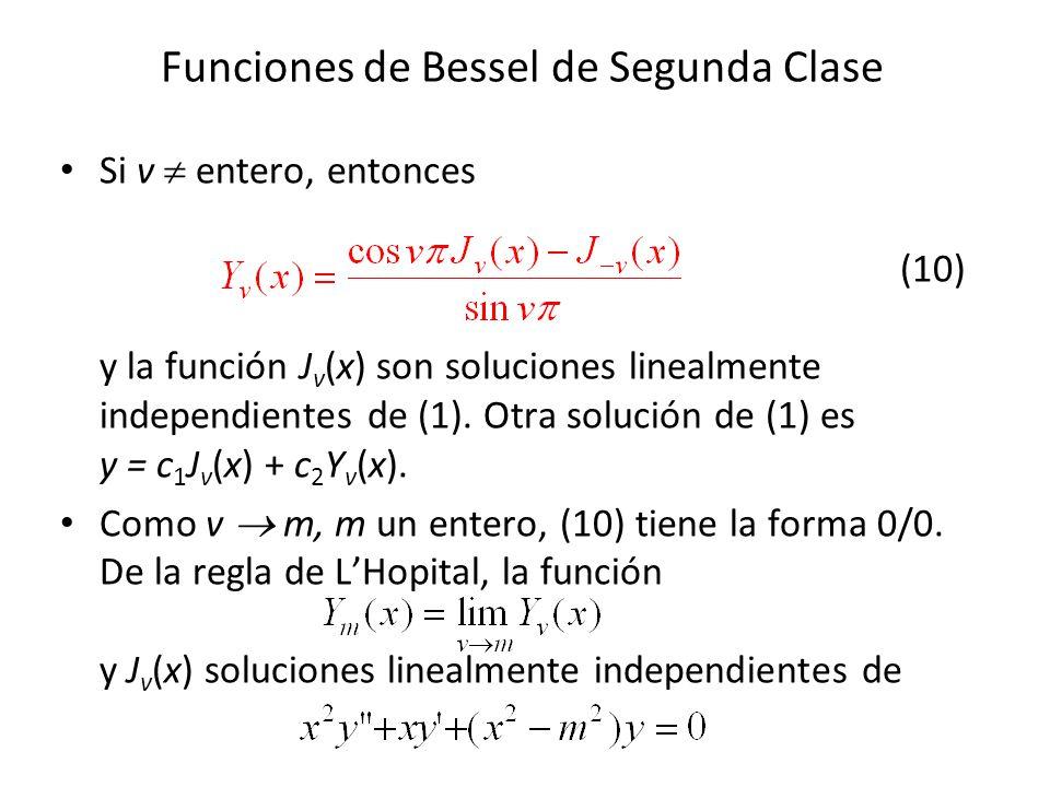 Funciones de Bessel de Segunda Clase