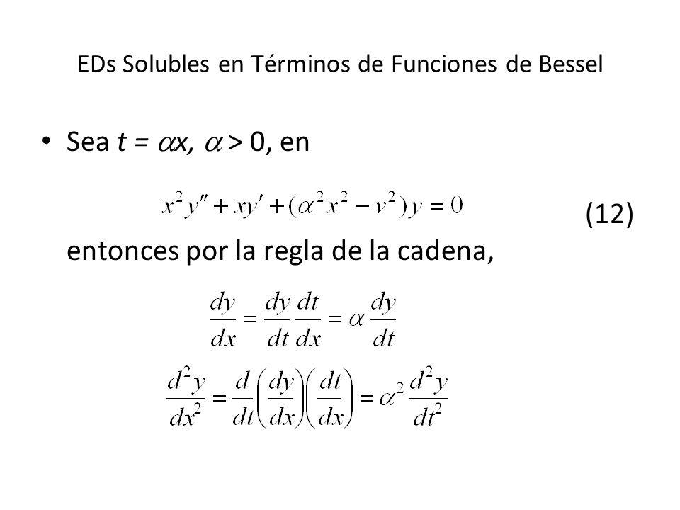 EDs Solubles en Términos de Funciones de Bessel