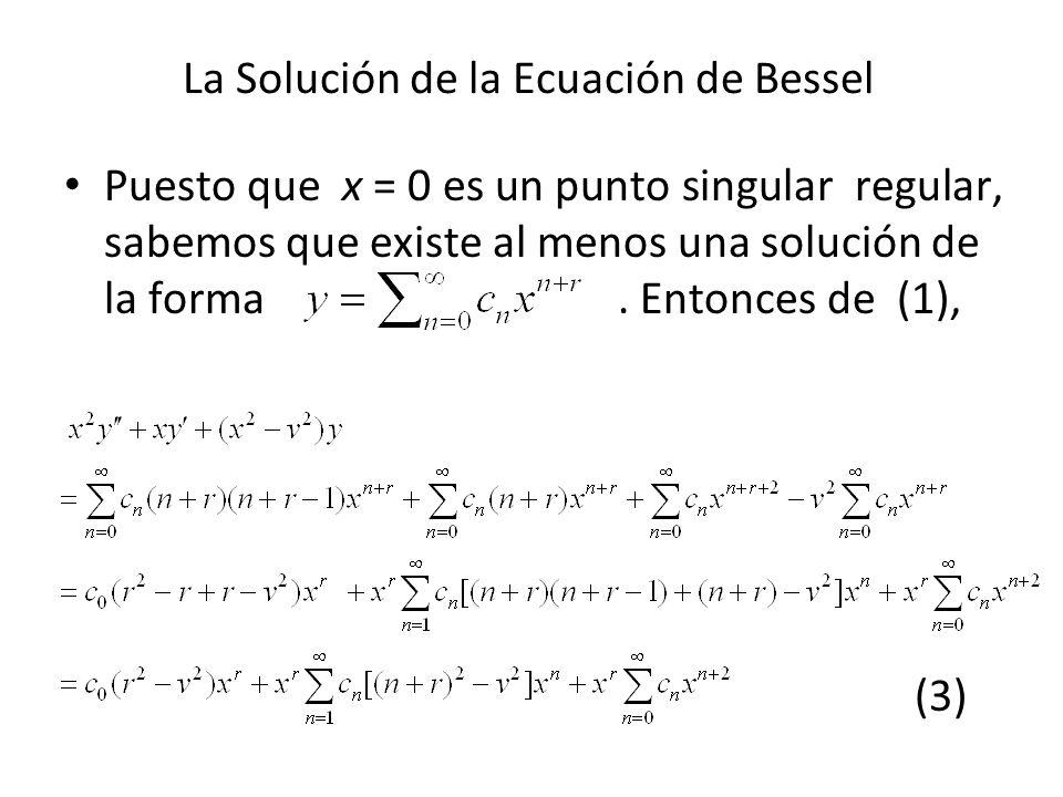La Solución de la Ecuación de Bessel