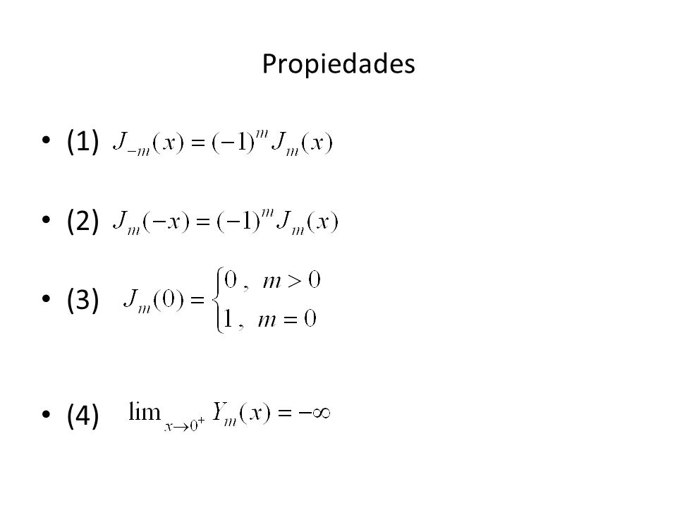Propiedades (1) (2) (3) (4)