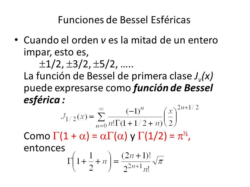Funciones de Bessel Esféricas