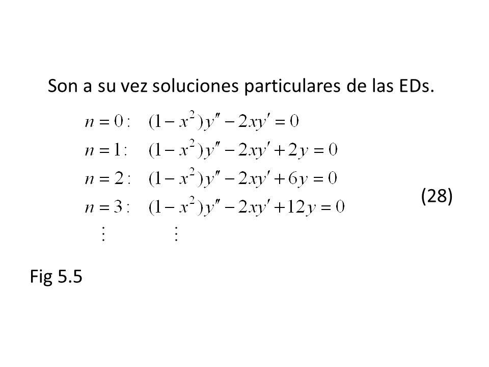 Son a su vez soluciones particulares de las EDs. (28)