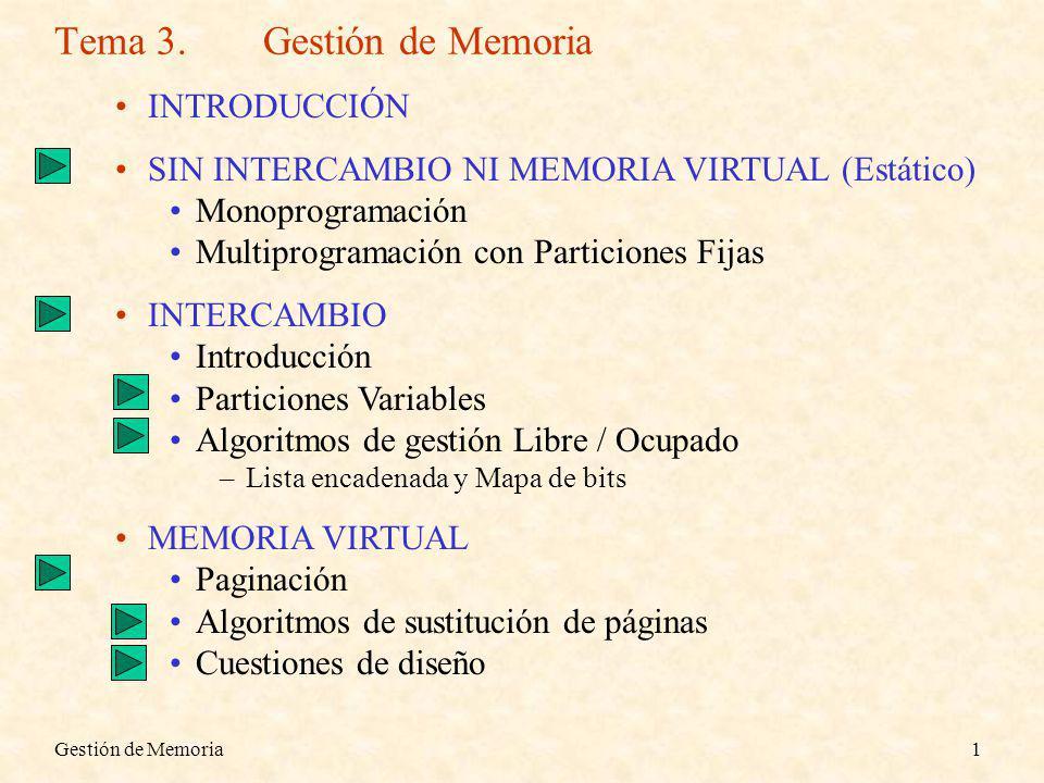 Tema 3. Gestión de Memoria