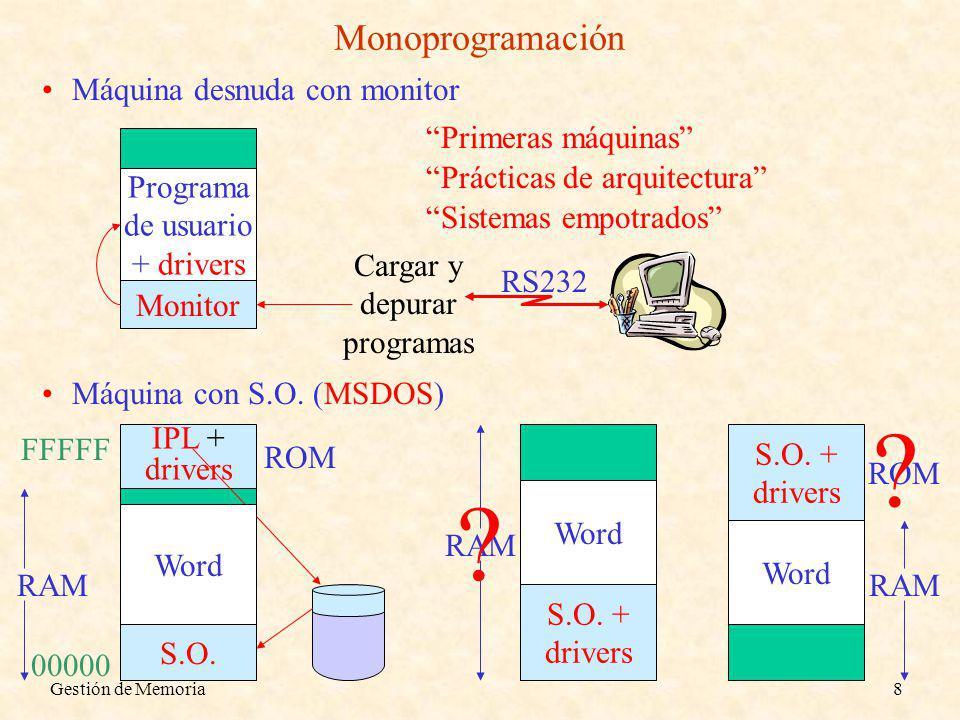 Cargar y depurar programas