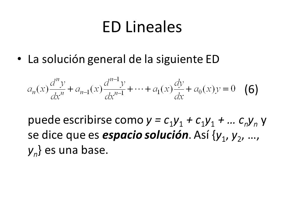 ED Lineales