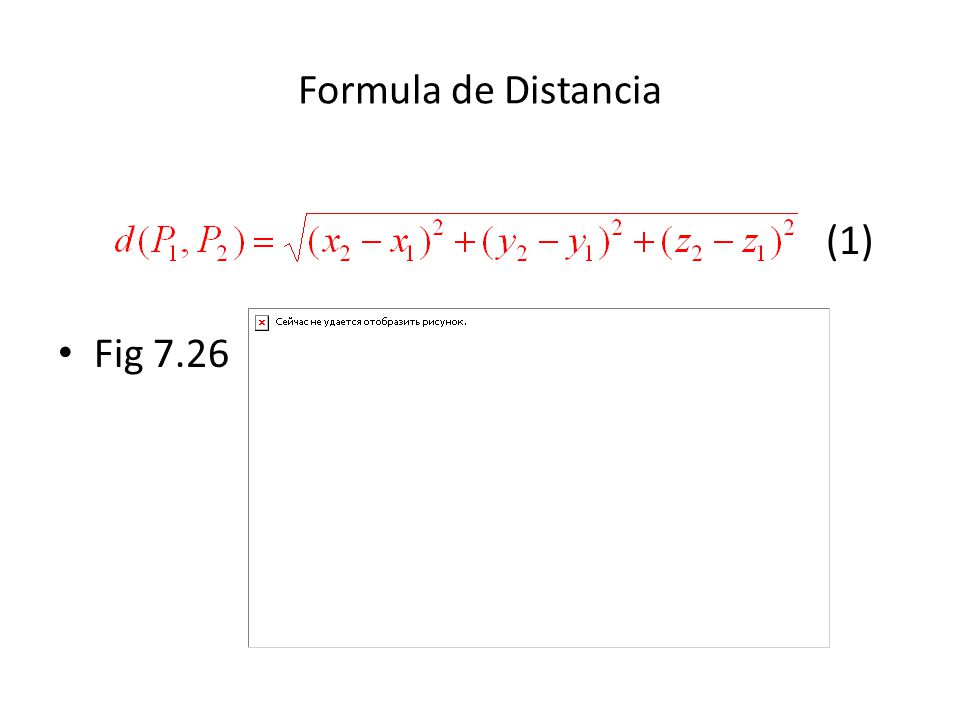 Formula de Distancia (1) Fig 7.26