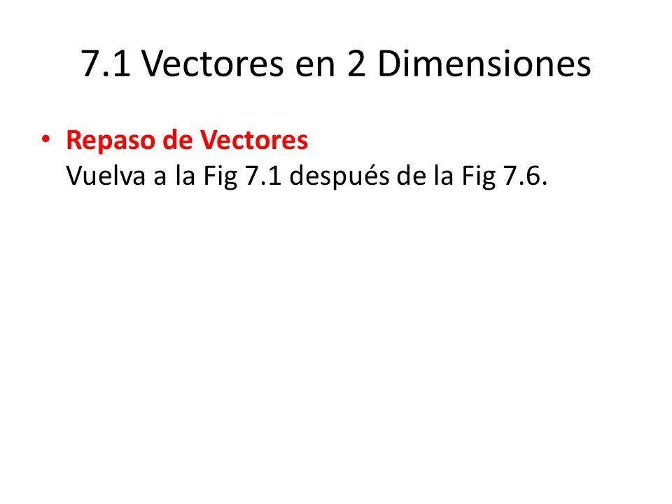7.1 Vectores en 2 Dimensiones