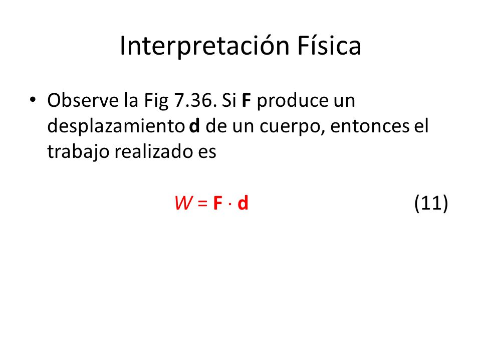 Interpretación Física