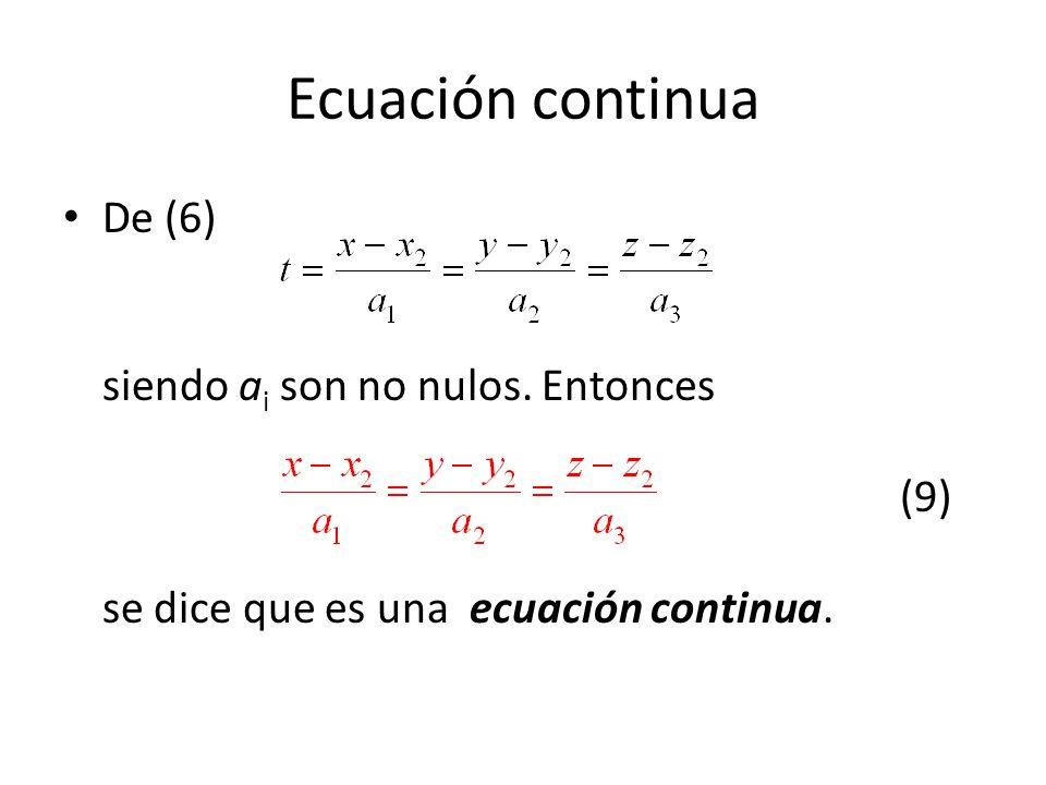 Ecuación continua De (6) siendo ai son no nulos.