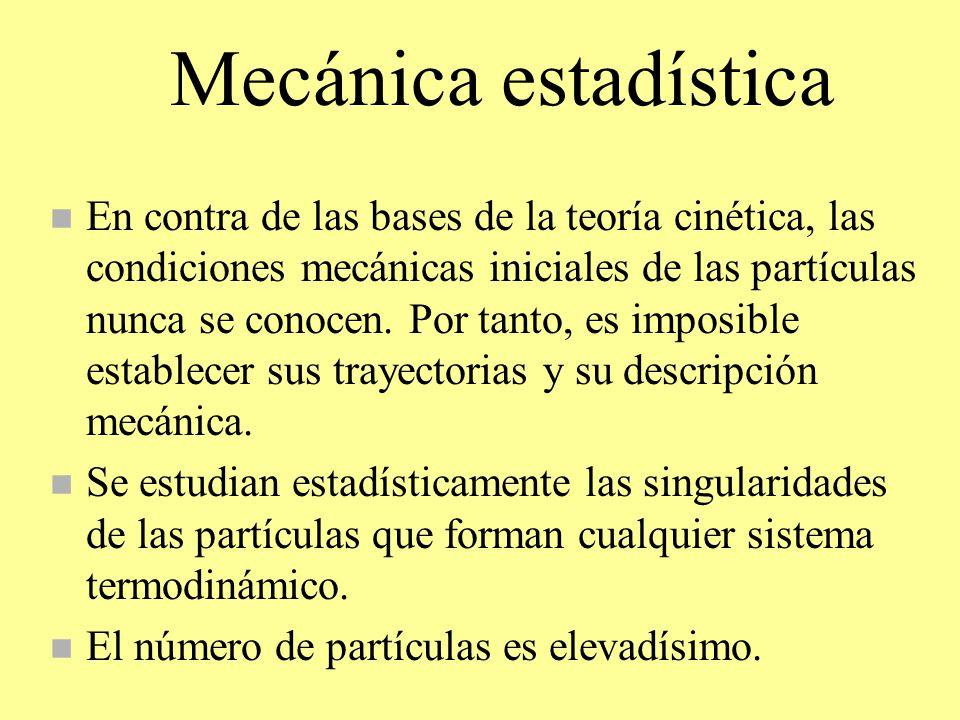 Mecánica estadística