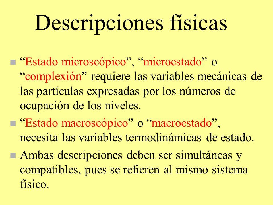 Descripciones físicas