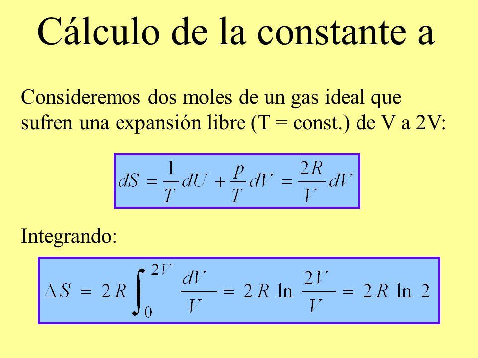 Cálculo de la constante a
