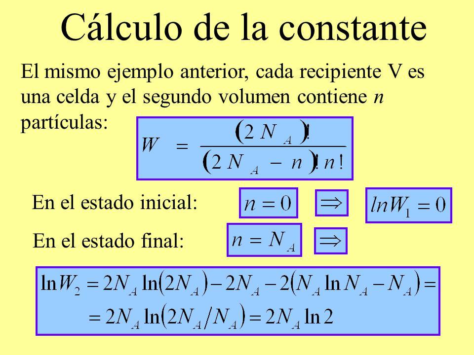 Cálculo de la constante