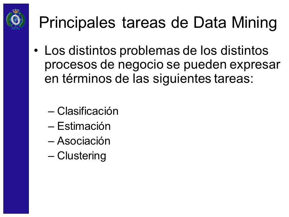 Principales tareas de Data Mining