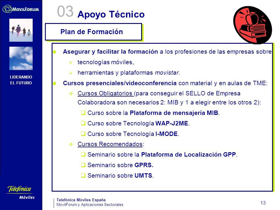 03 Apoyo Técnico Plan de Formación
