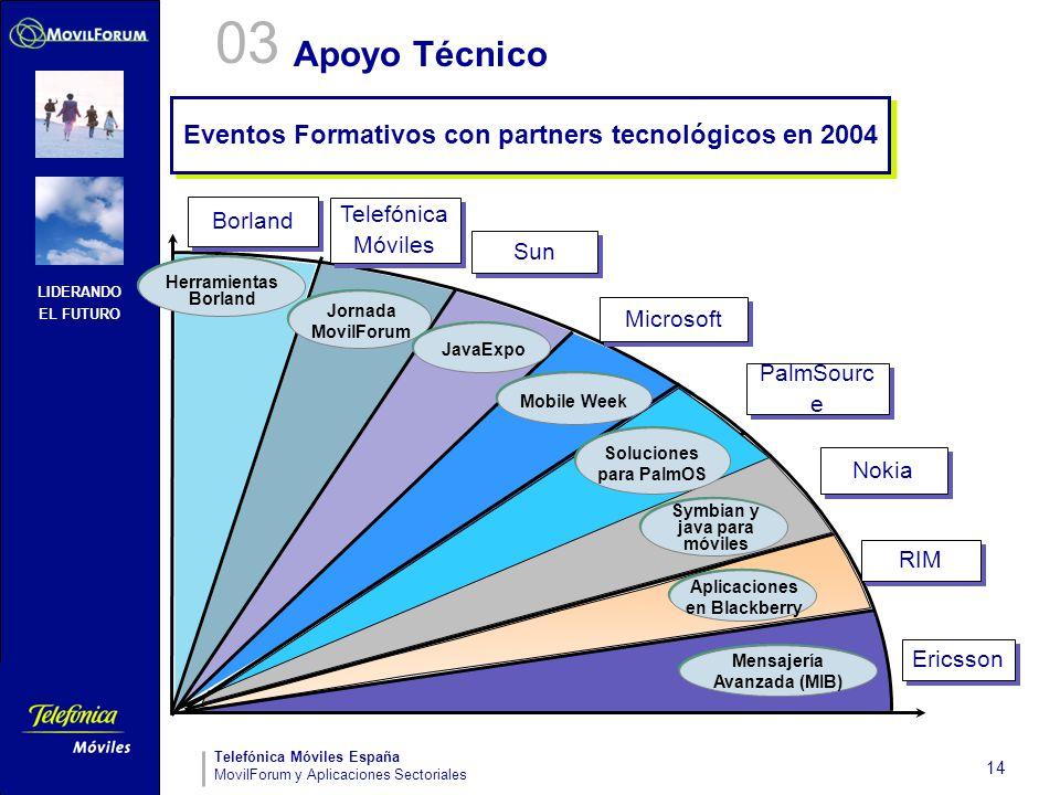 03 Apoyo Técnico Eventos Formativos con partners tecnológicos en 2004