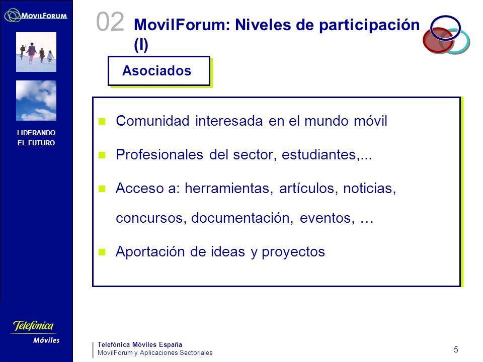 MovilForum: Niveles de participación (I)
