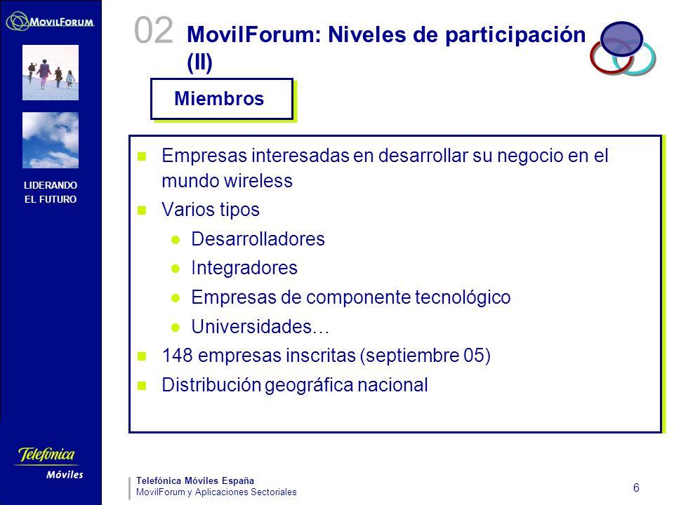 MovilForum: Niveles de participación (II)