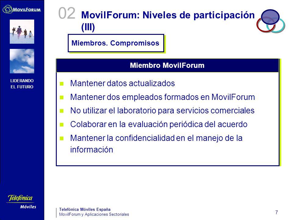 MovilForum: Niveles de participación (III)