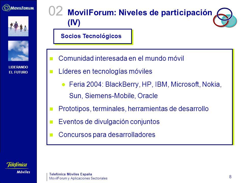 MovilForum: Niveles de participación (IV)