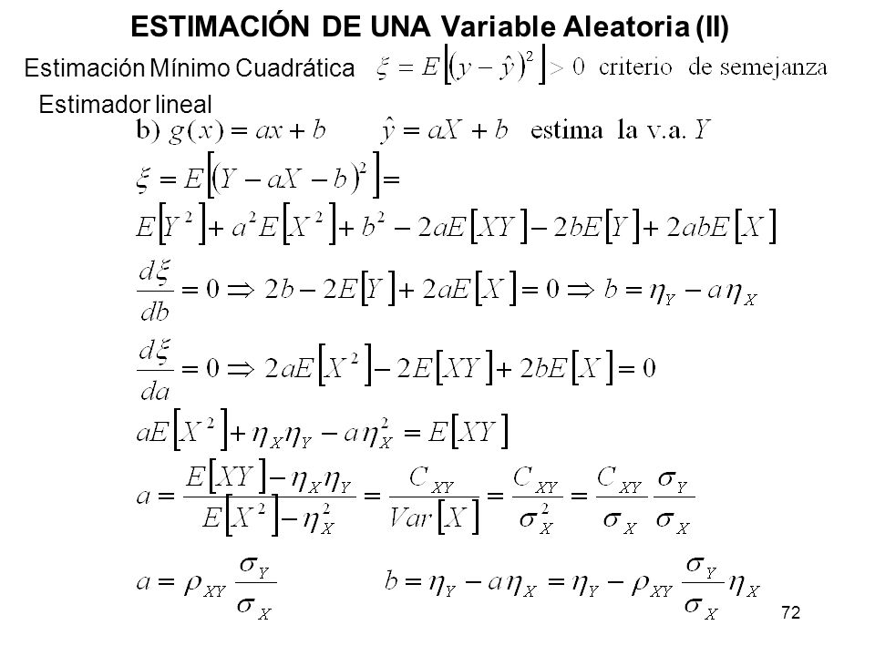 ESTIMACIÓN DE UNA Variable Aleatoria (II)