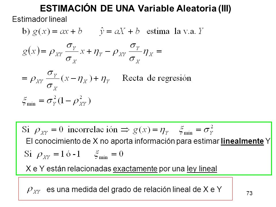 ESTIMACIÓN DE UNA Variable Aleatoria (III)