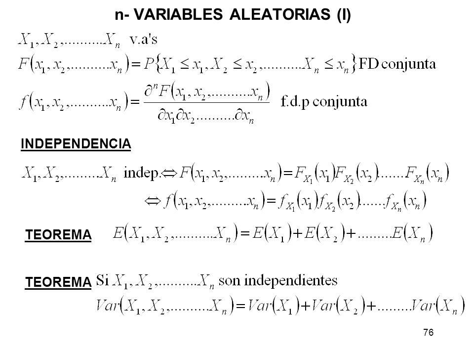 n- VARIABLES ALEATORIAS (I)