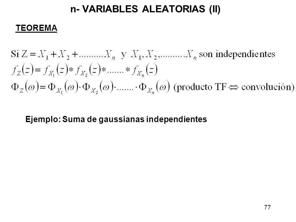 n- VARIABLES ALEATORIAS (II)