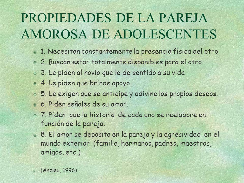 PROPIEDADES DE LA PAREJA AMOROSA DE ADOLESCENTES
