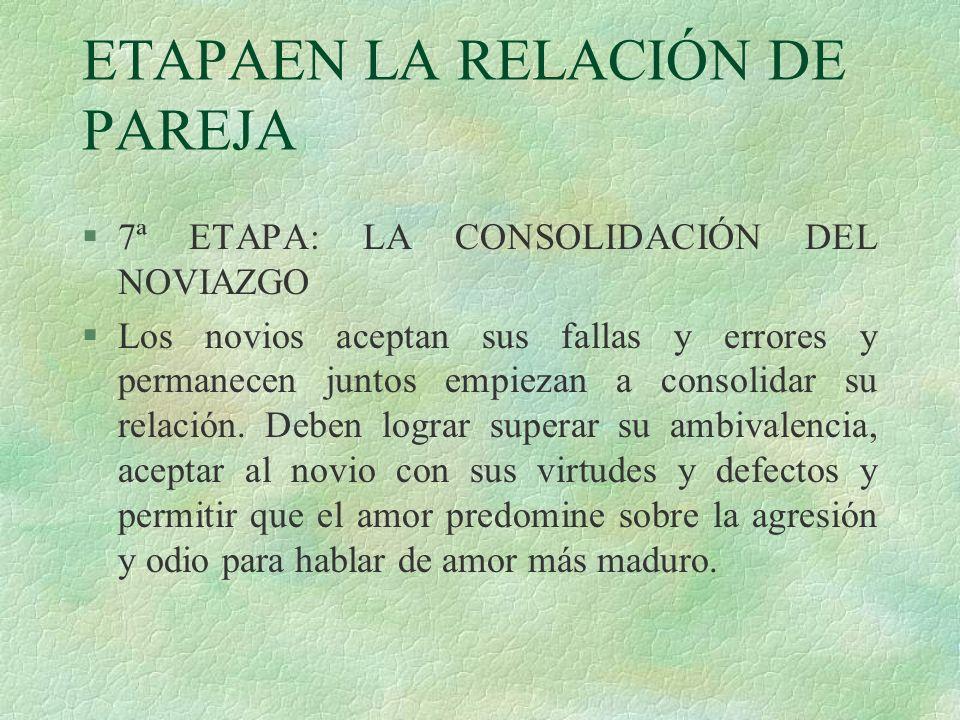 ETAPAEN LA RELACIÓN DE PAREJA