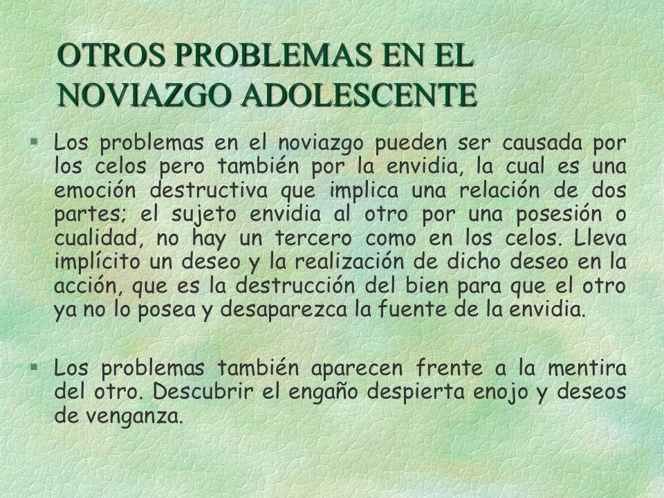 OTROS PROBLEMAS EN EL NOVIAZGO ADOLESCENTE