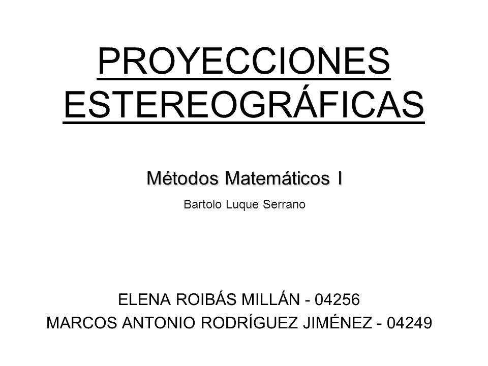 PROYECCIONES ESTEREOGRÁFICAS