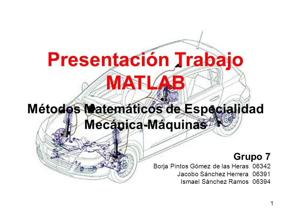 Presentación Trabajo MATLAB