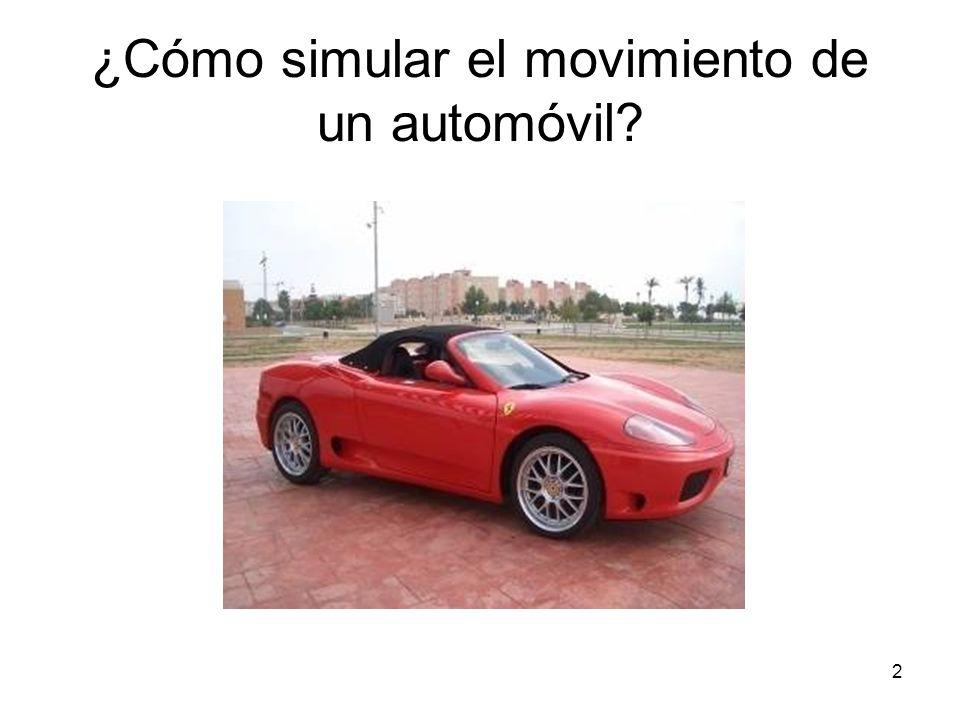 ¿Cómo simular el movimiento de un automóvil