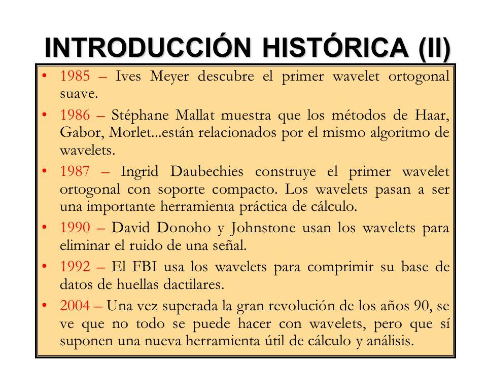 INTRODUCCIÓN HISTÓRICA (II)