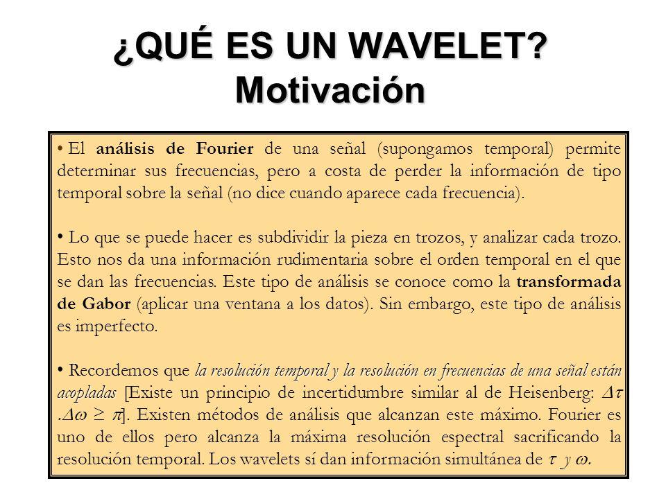 ¿QUÉ ES UN WAVELET Motivación