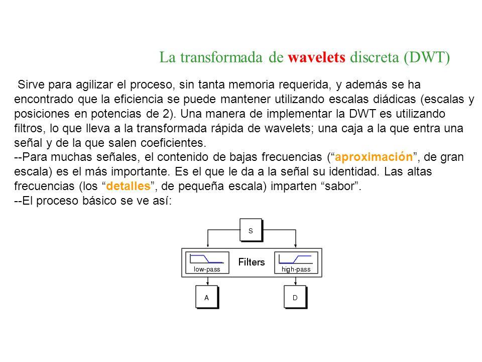 La transformada de wavelets discreta (DWT)