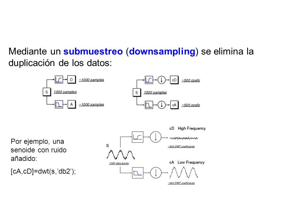 Mediante un submuestreo (downsampling) se elimina la duplicación de los datos: