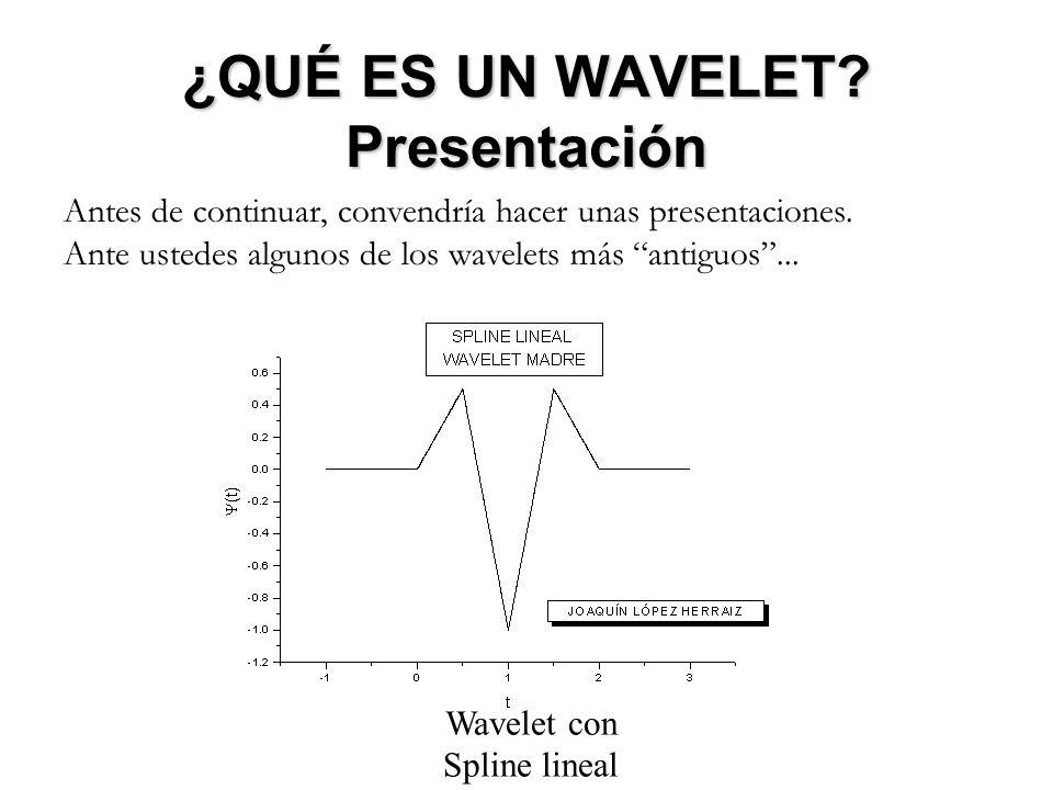 ¿QUÉ ES UN WAVELET Presentación