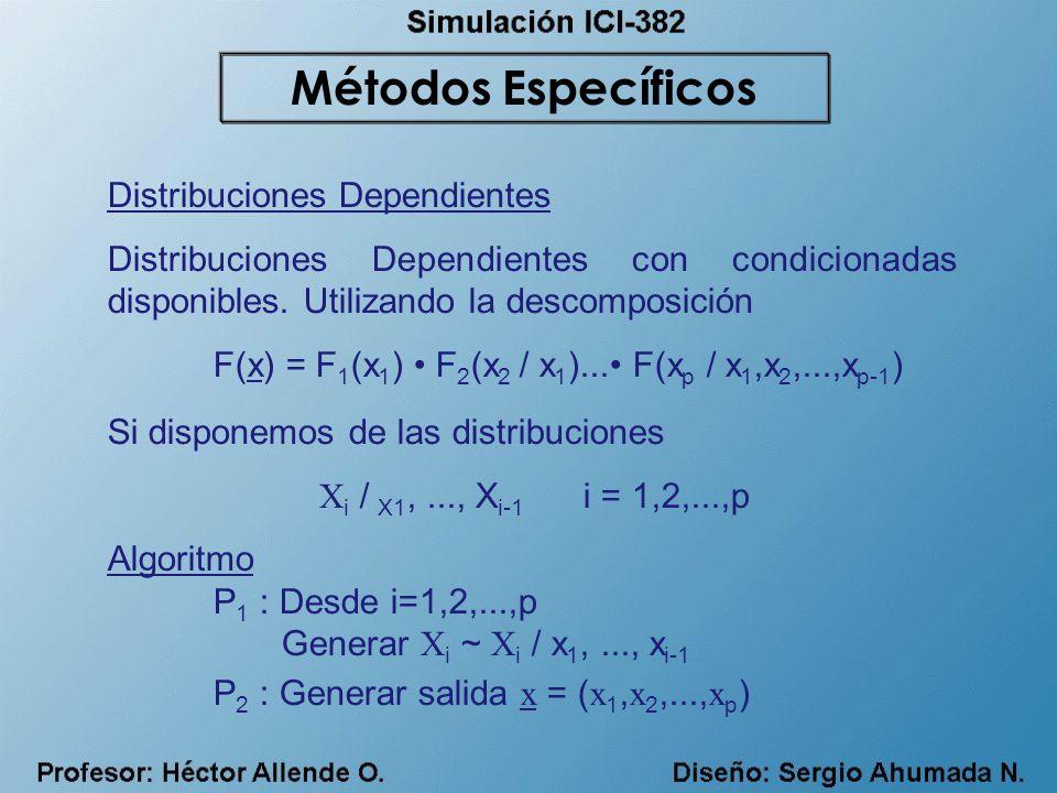 Métodos Específicos Distribuciones Dependientes