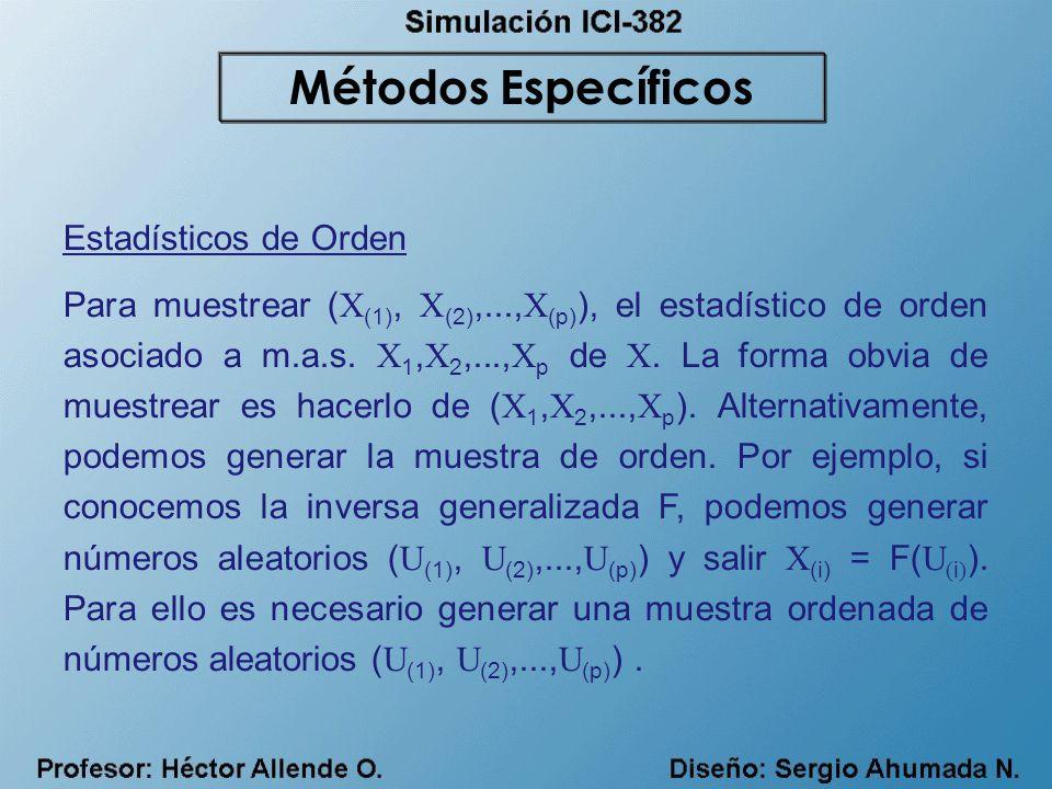 Métodos Específicos Estadísticos de Orden