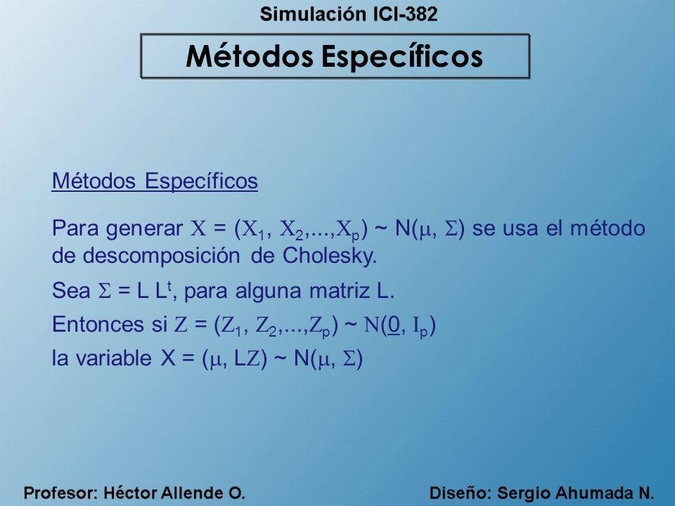 Métodos Específicos Métodos Específicos