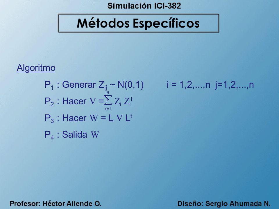Métodos Específicos Algoritmo