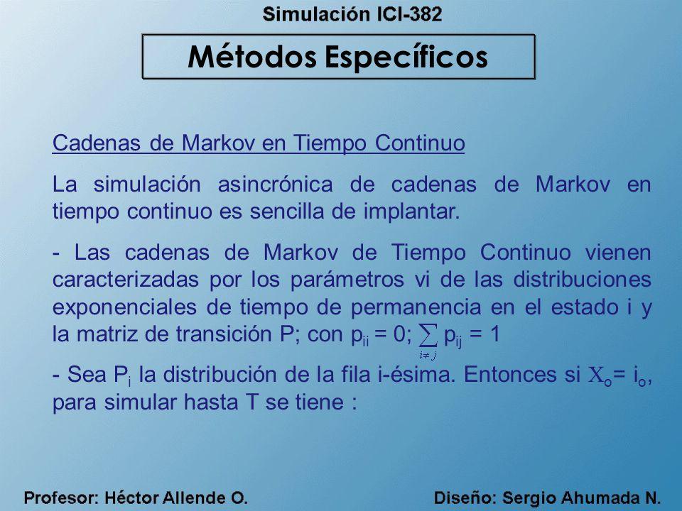 Métodos Específicos Cadenas de Markov en Tiempo Continuo