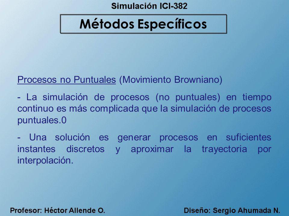 Métodos Específicos Procesos no Puntuales (Movimiento Browniano)