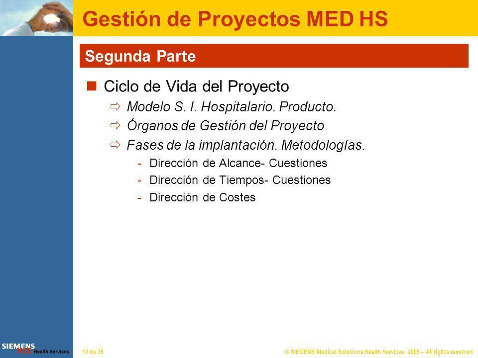 Gestión de Proyectos MED HS