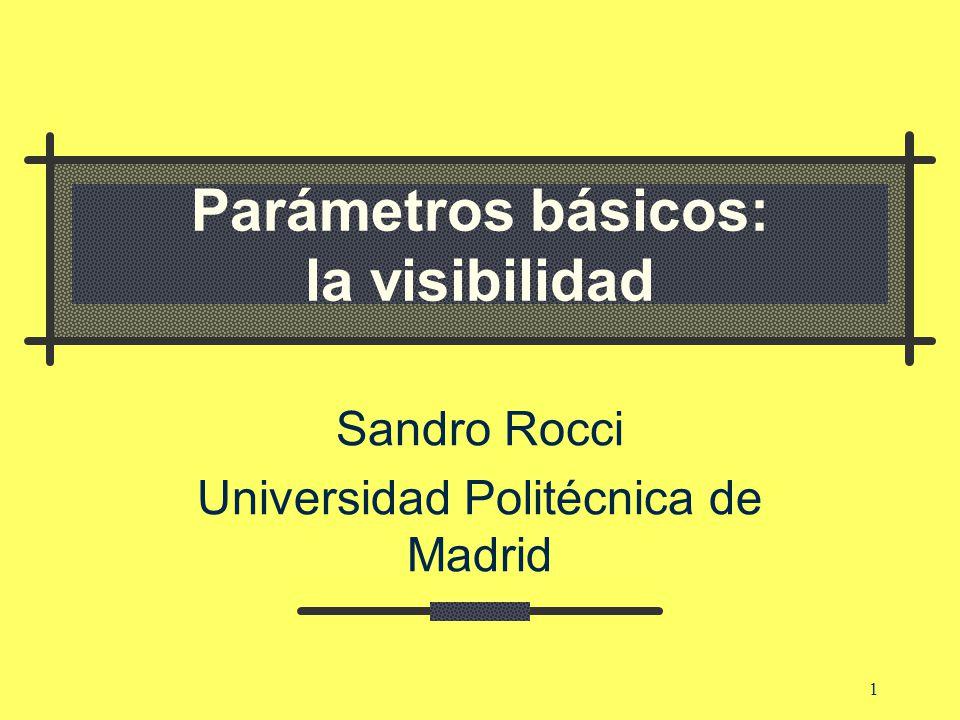 Parámetros básicos: la visibilidad