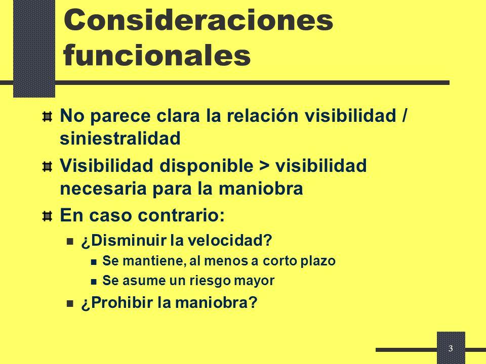 Consideraciones funcionales